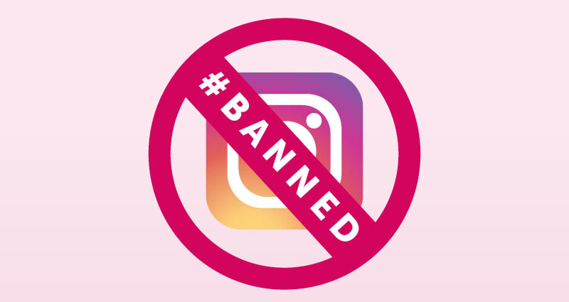 banned instagram acccount
