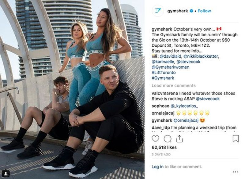 Gymshark influencers