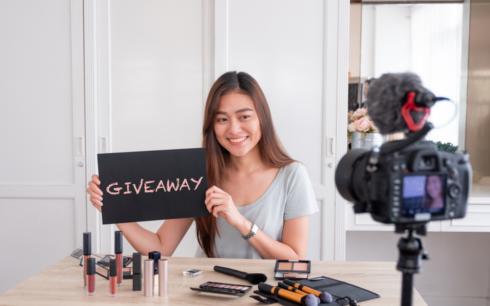 Influencer brand giveaway